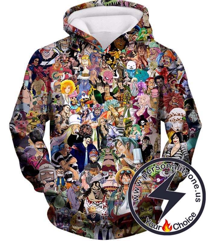One Piece Awesome Anime One Piece All in One Characters Hoodie