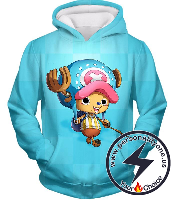 One Piece Cotton Candy Lover Doctor Tony Tony Chopper Cool Blue Hoodie