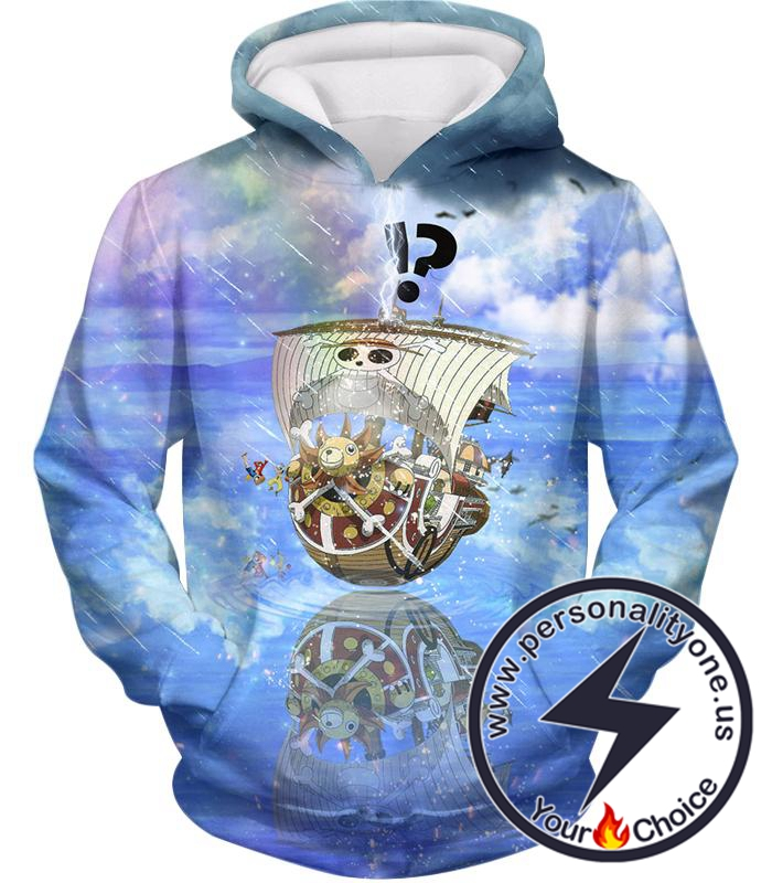 One Piece Thousand Sunny Straw Hats Awesome Pirate Ship Hoodie
