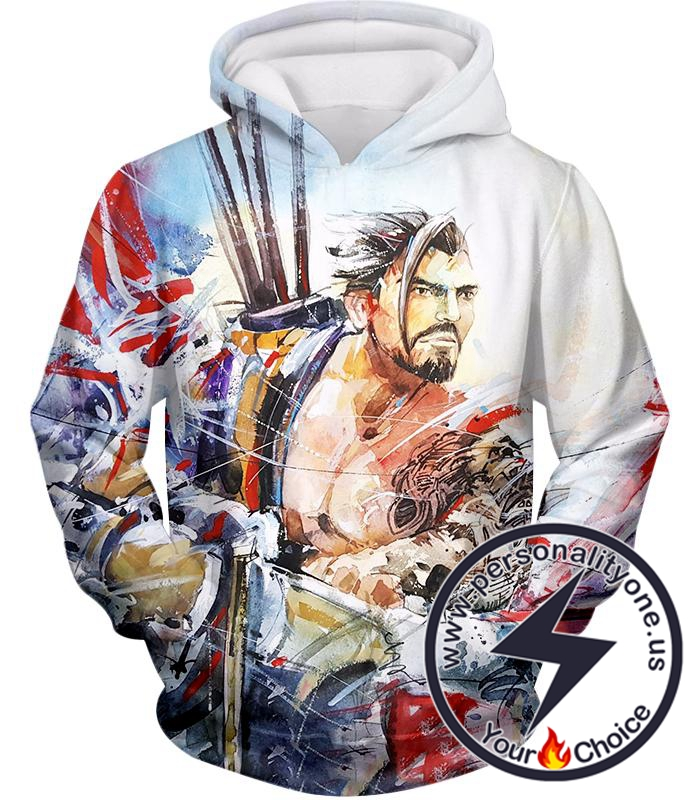 Overwatch Bow and Arrow Specialist Fighter Hanzo Hoodie